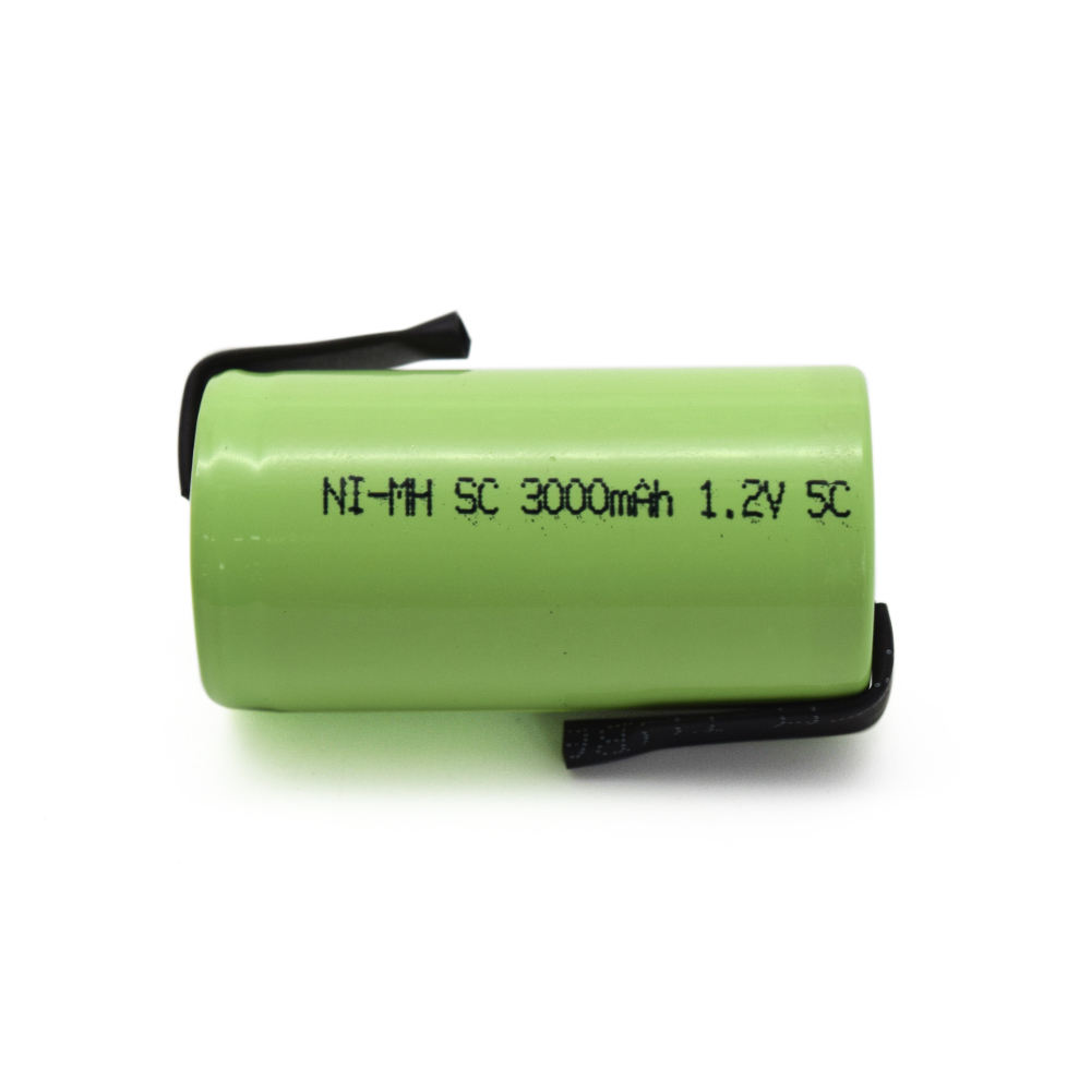nimh sc 1.2v Ni-Mh 3000mah rechargeable battery with 5C discharging rate
