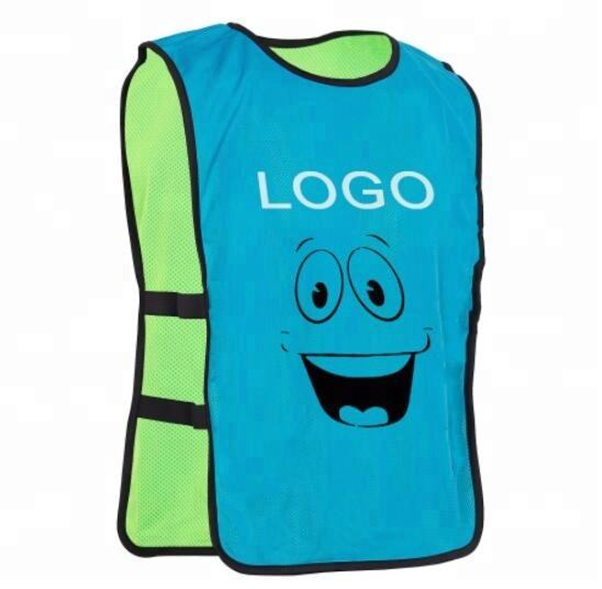 Factory Custom Sleeveless Reversible Soccer Training Vest Sports Practice Football Mesh Bibs