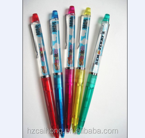 promotional 3d customized floater pen Lovely shape liquid ball pen CH-6625 Promotional floating pen