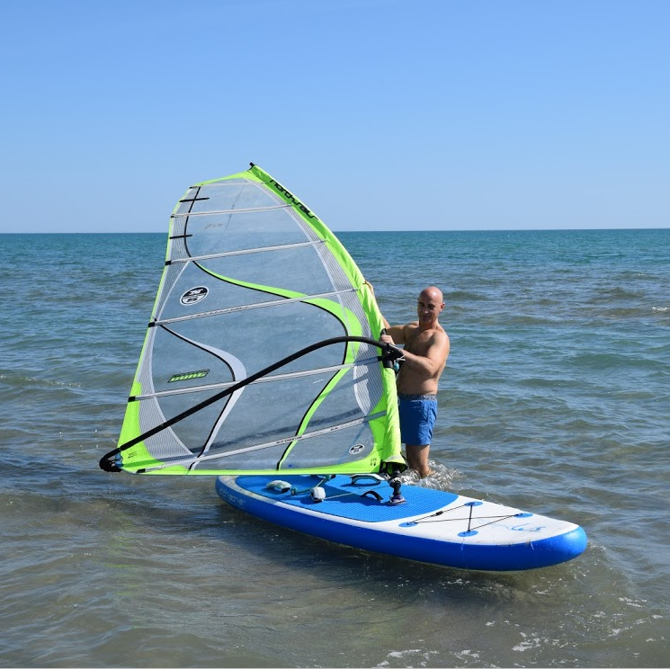 10'x30''x6'' wind stand up paddle surfplank opblaasbare SUP opblaasbare windsurf board met zeil