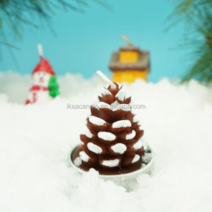 Christmas Pincone Shaped Candle
