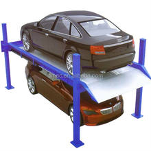 4 Post Car Parking Lift for home garage, with electro lock release Parking system
