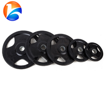 Rubber Coated Tri Grip Weightlifting Plates