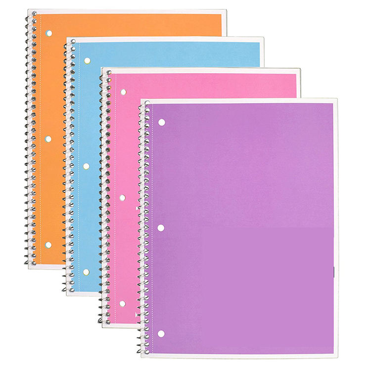Myway custom notebook/spiral note book,cheap customize logo wire bound bulk a4 spiral notebook