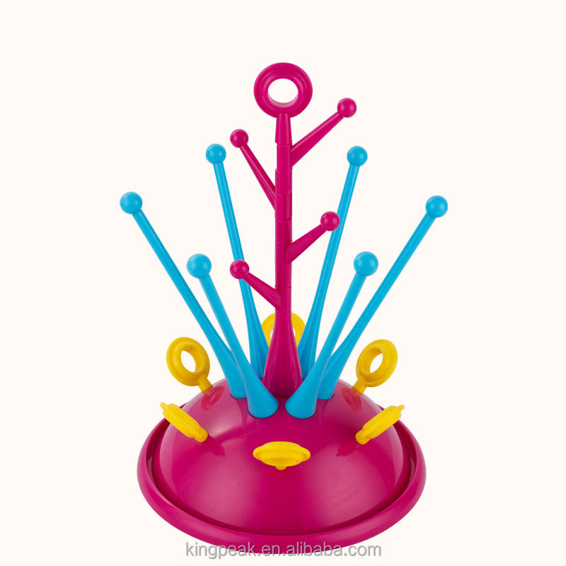 2019 Hot Sale Anti-Bacterial Baby Bottle Countertop Tree Drying Rack /Kitchen Feeding Holder Tools/Baby bottle dryer