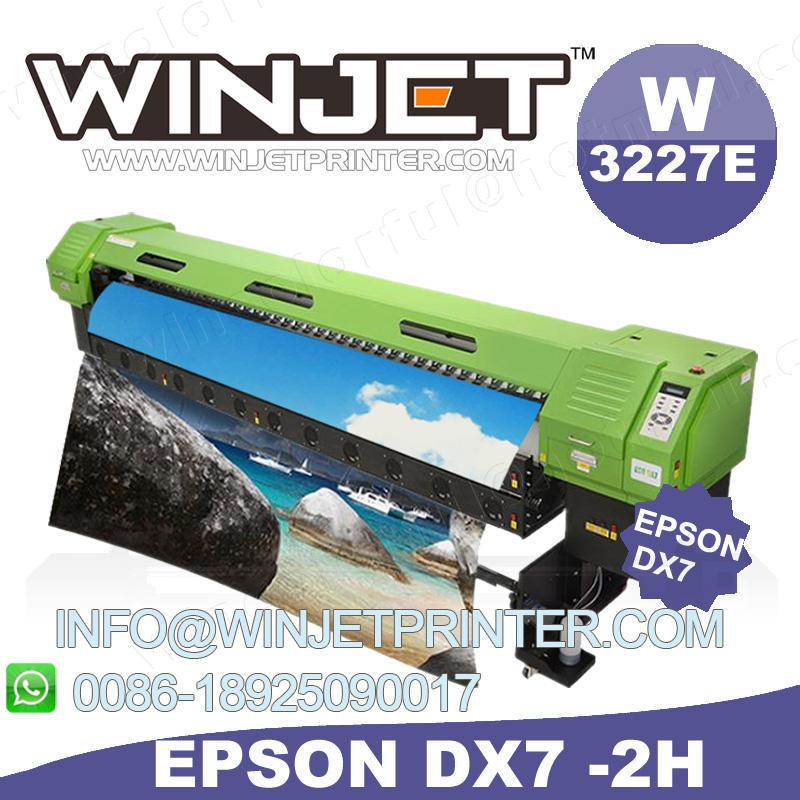 W3227 для широкоформатной печати 3200 мм эко принтер растворителя dx7 печатающей головки prinitng машина