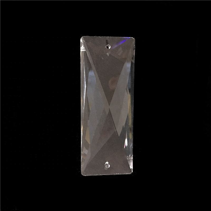 JN 76mm k9 crystal prisms pendants chandeliers parts lustres rainbow lamp lighting hang drops glass multi-faceted trimming