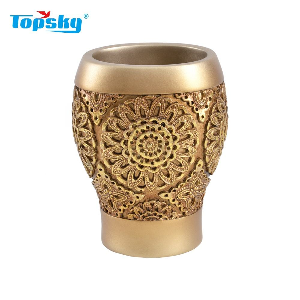New luxury fashion design polyresin bath custom tumbler