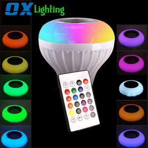 LED Intelligente Birne RGB Bluetooth Lautsprecher Musik Bulb