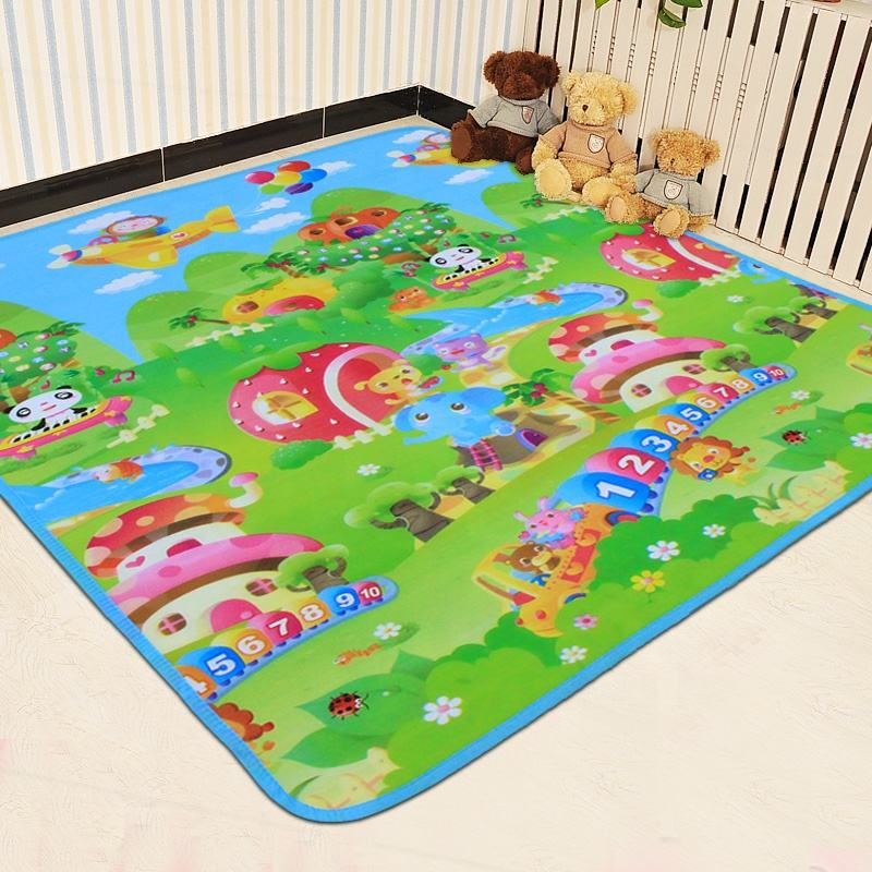 Environmental Protection Kids Activity Toy Non toxic Baby Play Mat Thick Avoid Falling