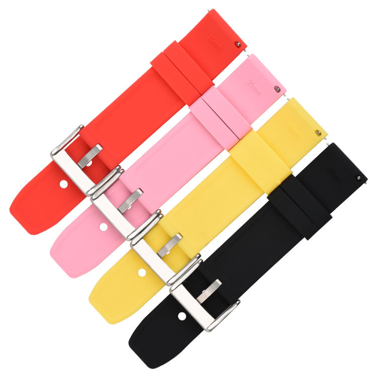 18mm 20mm 22mm 24mm Quick Release Watch Strap Silicone Rubber Watch Band