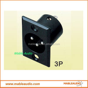 3Pins XLRแชสซีMount Connector/XLRแผงMount Socket/3Pins Connector XLRชาย