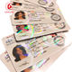 PET Material Transparent Hologram Overlay sticker Film for NSW ids PVC cards