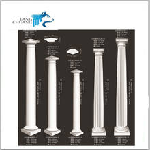 EPS Foam Fiberglass Plastic Roman Pillar For Building Exterior Decoration