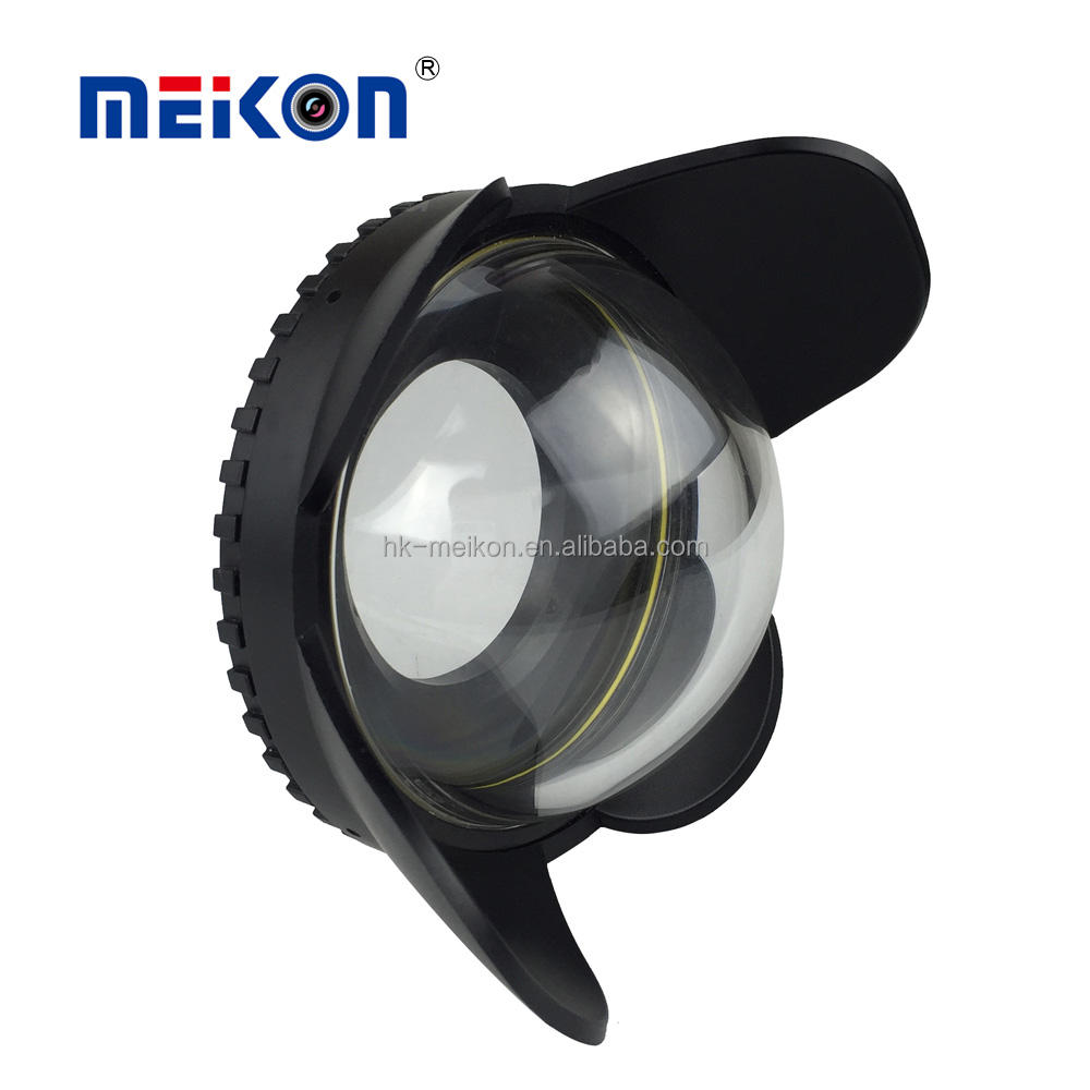 Meikon 67mm Diving Underwater dome port <span class=keywords><strong>lensa</strong></span> fisheye lens untuk canon nikon lens