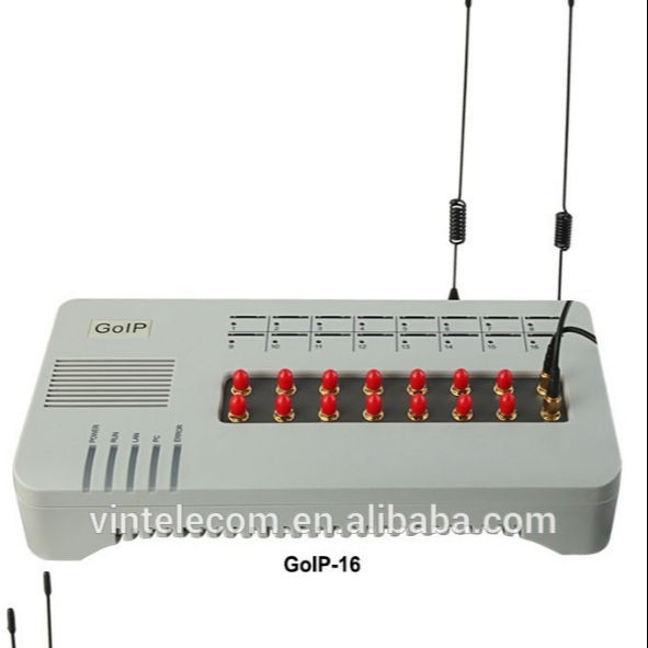 GOIP 16 port GSM Gateway with long antenna