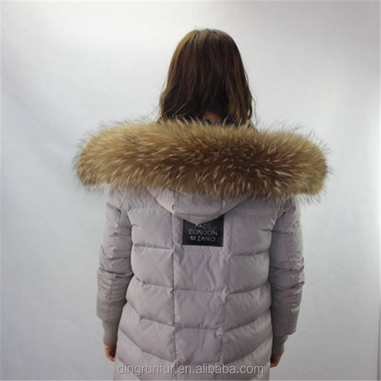 wholesale Raccoon Fur Trim for Hood detachable fur collars
