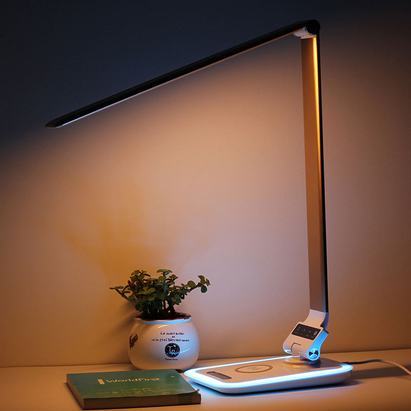 Relight High-tech 3-speed dimming adjustable led wireless charging smart desk lamp for home