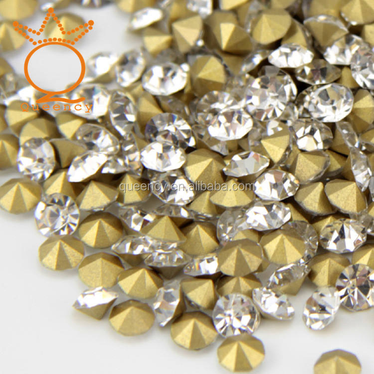 New coming manufacture crystal chaton rhinestone point chaton beads