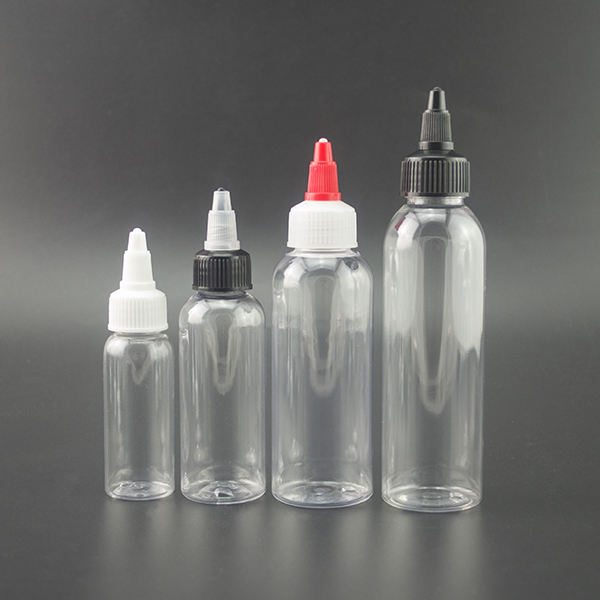 hot sale clear 30ml 60ml 100ml 120ml 250ml pet plastic dropper bottle with twist top cap