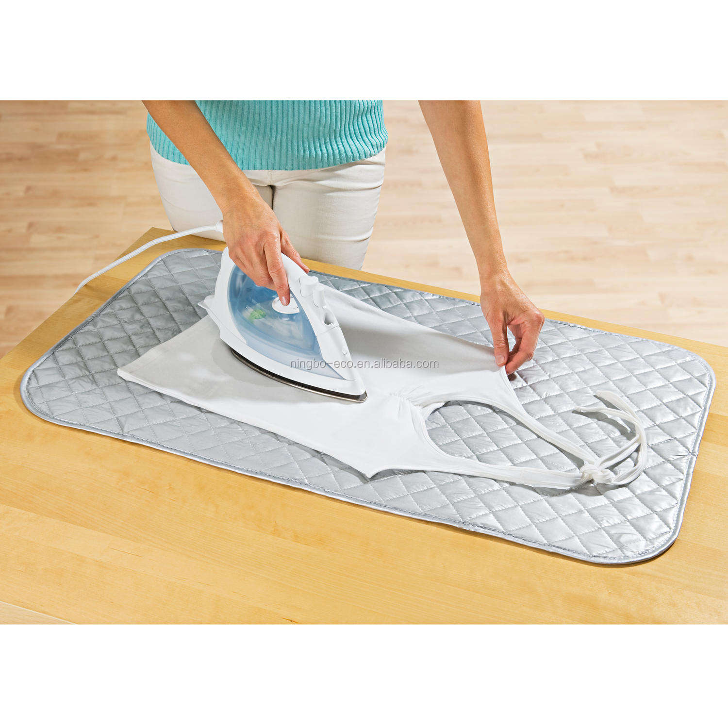 Cotton Polyester Portable Ironing Board Cover / Iron Ironing Mat Pad / Heat Resistant Mat