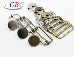 35mm brass metal suspender adjustable buckles for bib overall