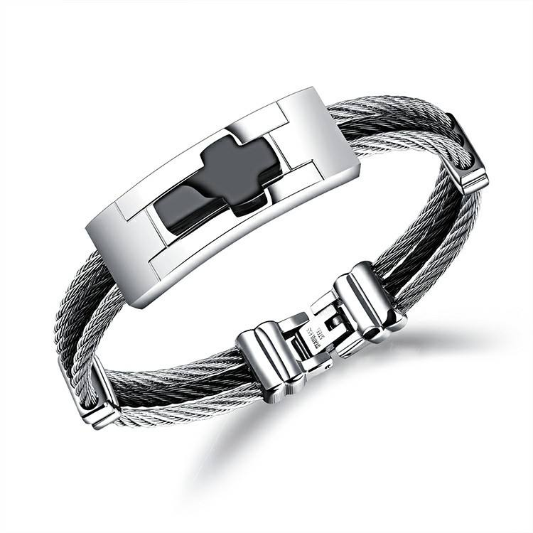 Marlary Hot Selling Fashion Stainless Steel Wire Rope Type Silver Plated Bangle Set Indian Churi