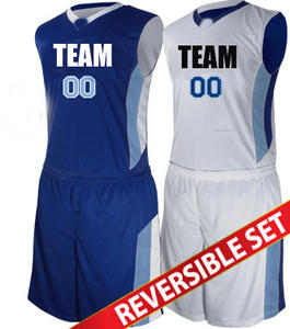 Hot sale cheap reversible basketball jersey uniform with numbers