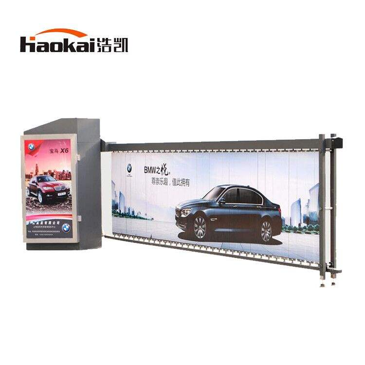 Parking Gate Barrier Automatic Door With 3m Length Advertising Board