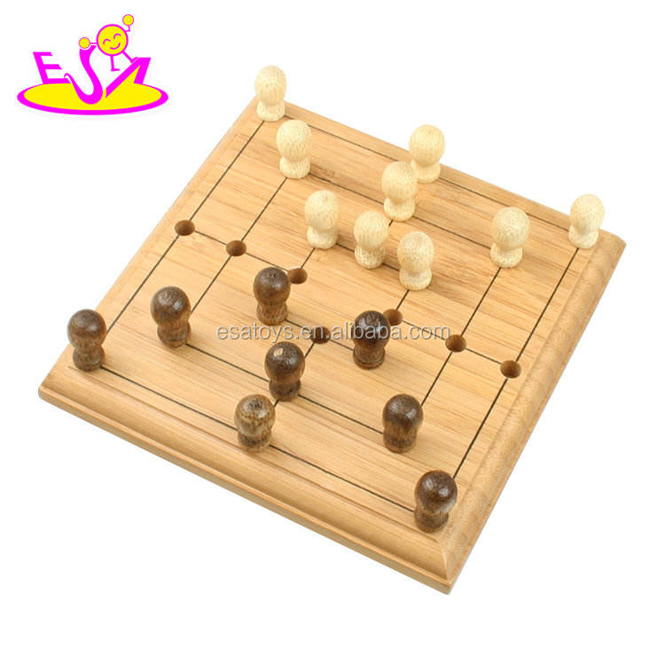 wholesale cheap indoor bamboo children play chess game for sale W11A067