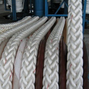 Marine 8 strands 64mm high quality PP/PE mooring rope used ship hawser