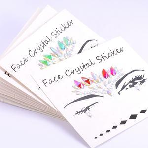 Wholesale Face Jewelry Sticker Body Sticker Tattoo Crystal Glitter Stickers Face Gem