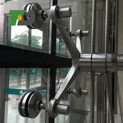 High quality 316 Stainless Steel Satin Curtain Wall Connector for wholesales