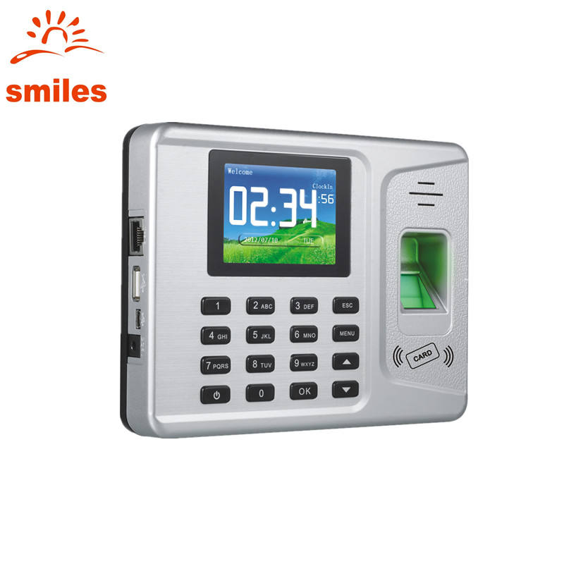 Network Standalone Colorful TFT Screen Biometric Time Attendance And RFID function Machine With Software