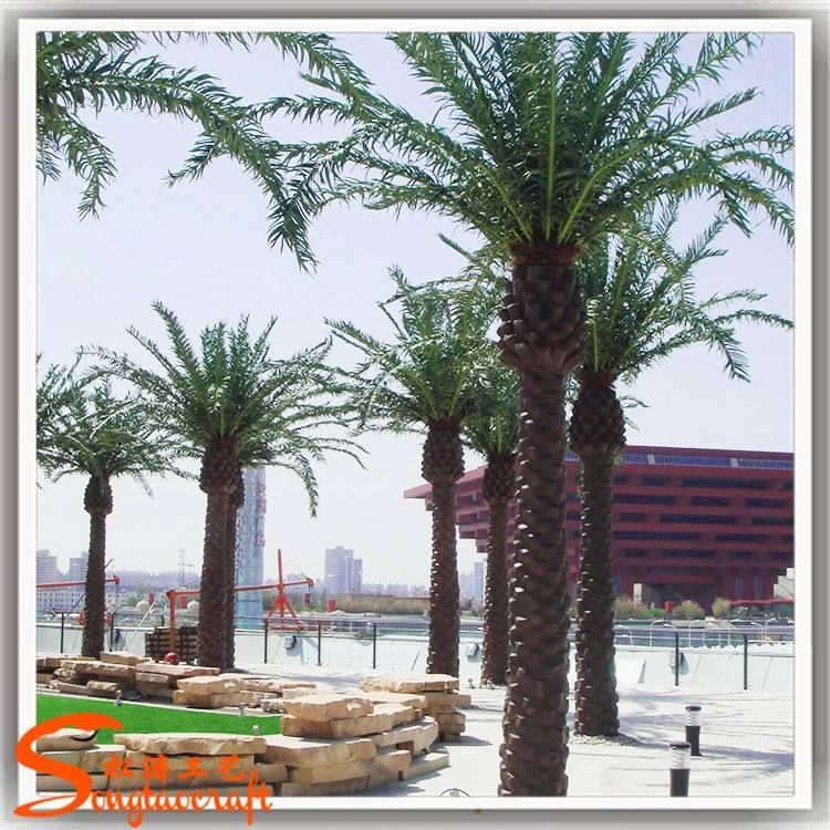 Best date palm prices of decoration garden date palm trees made of fiber glass