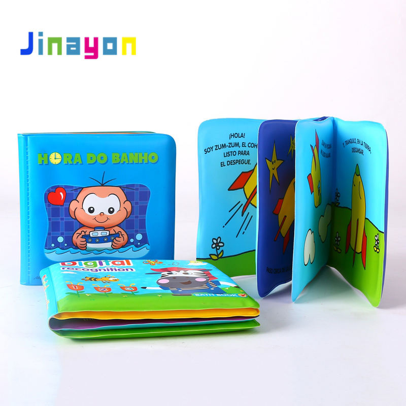 Jinayon New Custom Soft EVA Washable Baby Bath Book Kids Shower Bath Story Book Customized Size