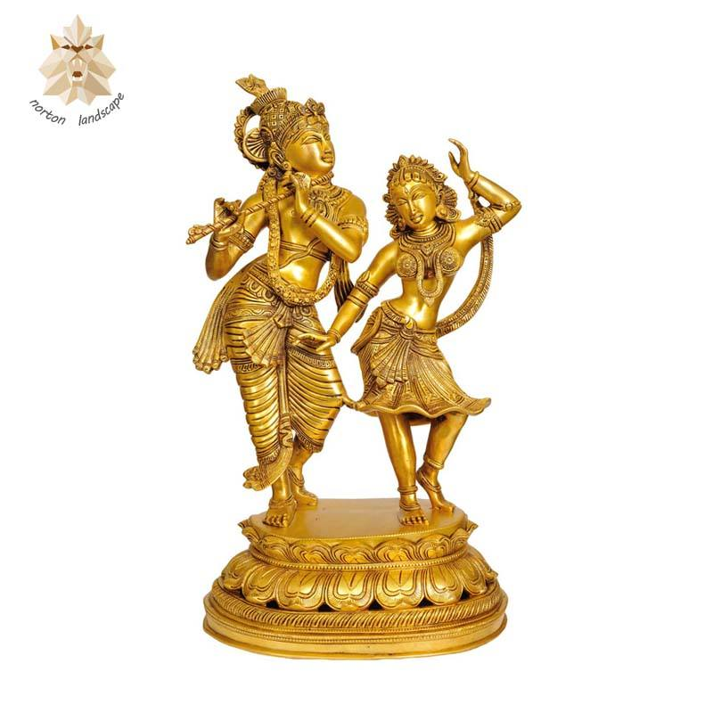 High quality metal bronze iskcon Radha Krishna statue and lord Shiva brass statue sculpture