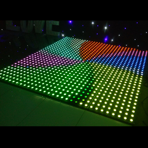 RGB 3in1 led stage lights interactive lighted flooring DMX digital led video dance 8x8 floor tiles