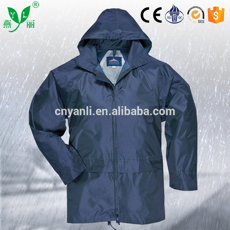 Fashion Outdoor Sport Custom Waterproof Mens Bike PVC Rain Jacket