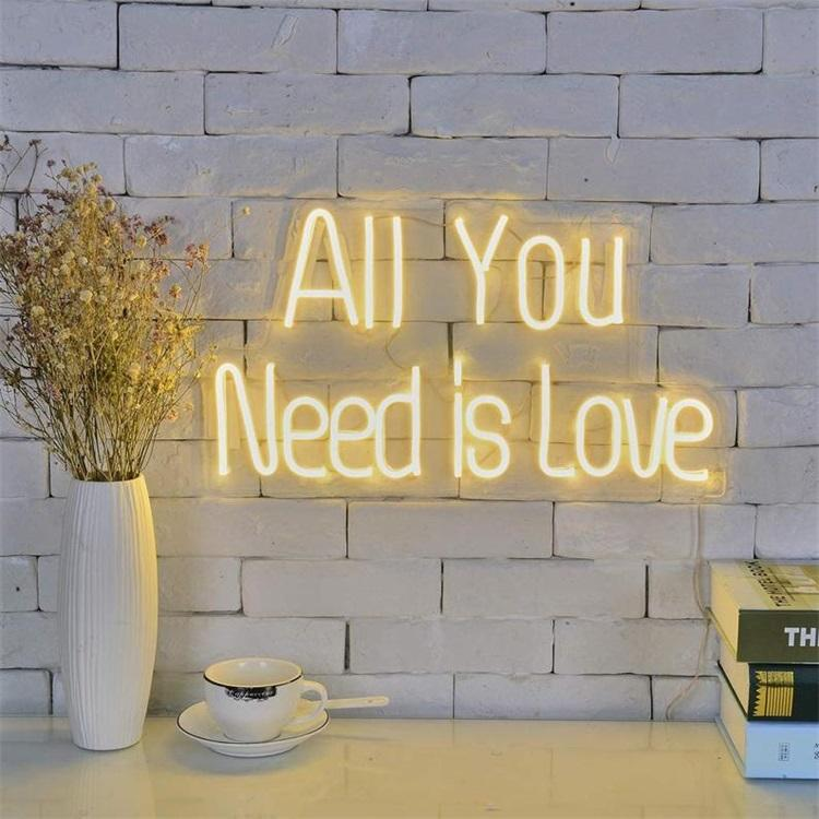 Best selling free shipping all you need is love led neon sign custom