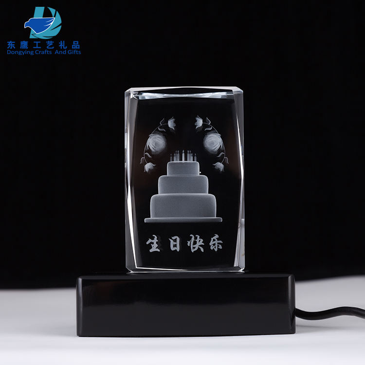 New products 3D 레이저 engraving crystal cube 문진 women gifts 대 한 생일