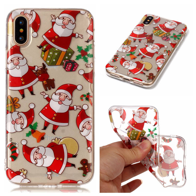 2018 ankunft Frohe Weihnachten <span class=keywords><strong>handy</strong></span> tpu fall für iPhone x xs xs max transparent