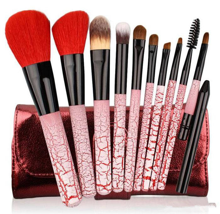 (High) 저 (quality Ismine 10 개 Cosmetic Brush 메이 컵 Brush Set 붉 아이 섀도우로 Brush Kit free shipping