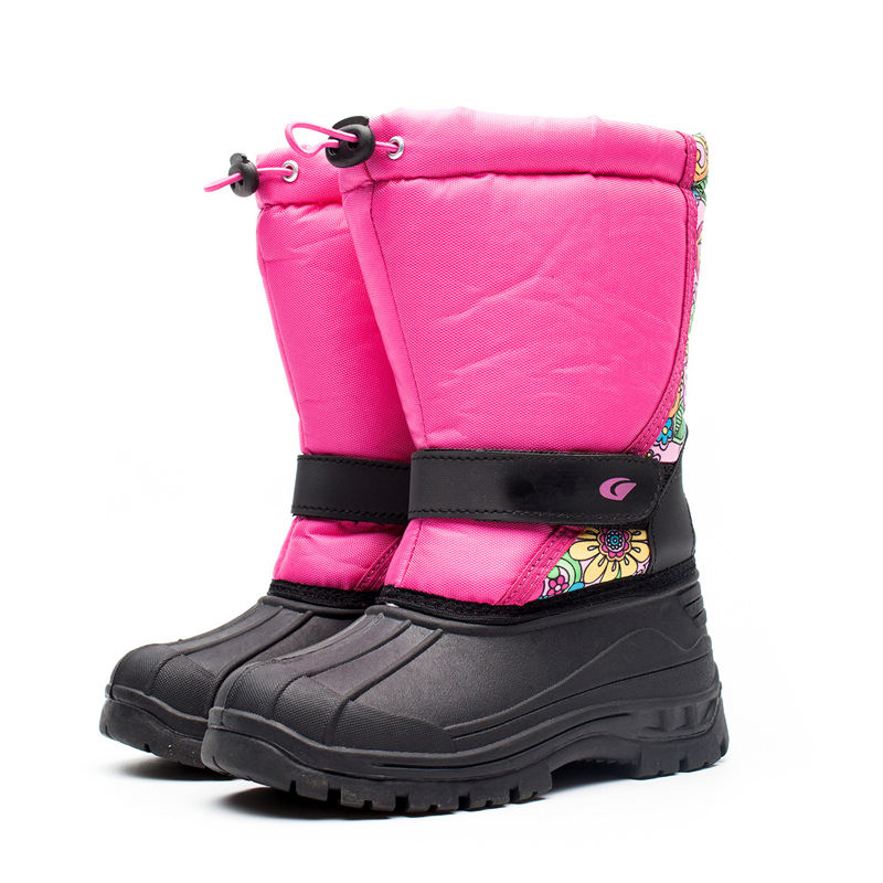 X8816 plush lining Children kids winter waterproof Snow Boots Girls snowboots