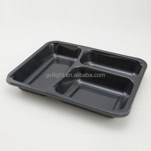 FS microwaveable CPET plastic food packaging trays