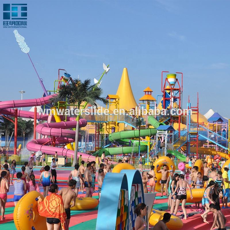 Attractive Kids Water Park Equipment Slides Water House Equipment