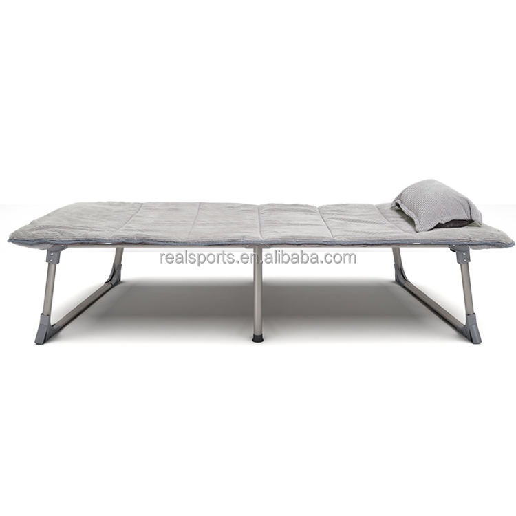 Soft Healthy Folding Metal Bed Easy Open And Folding Relax Guest Bed