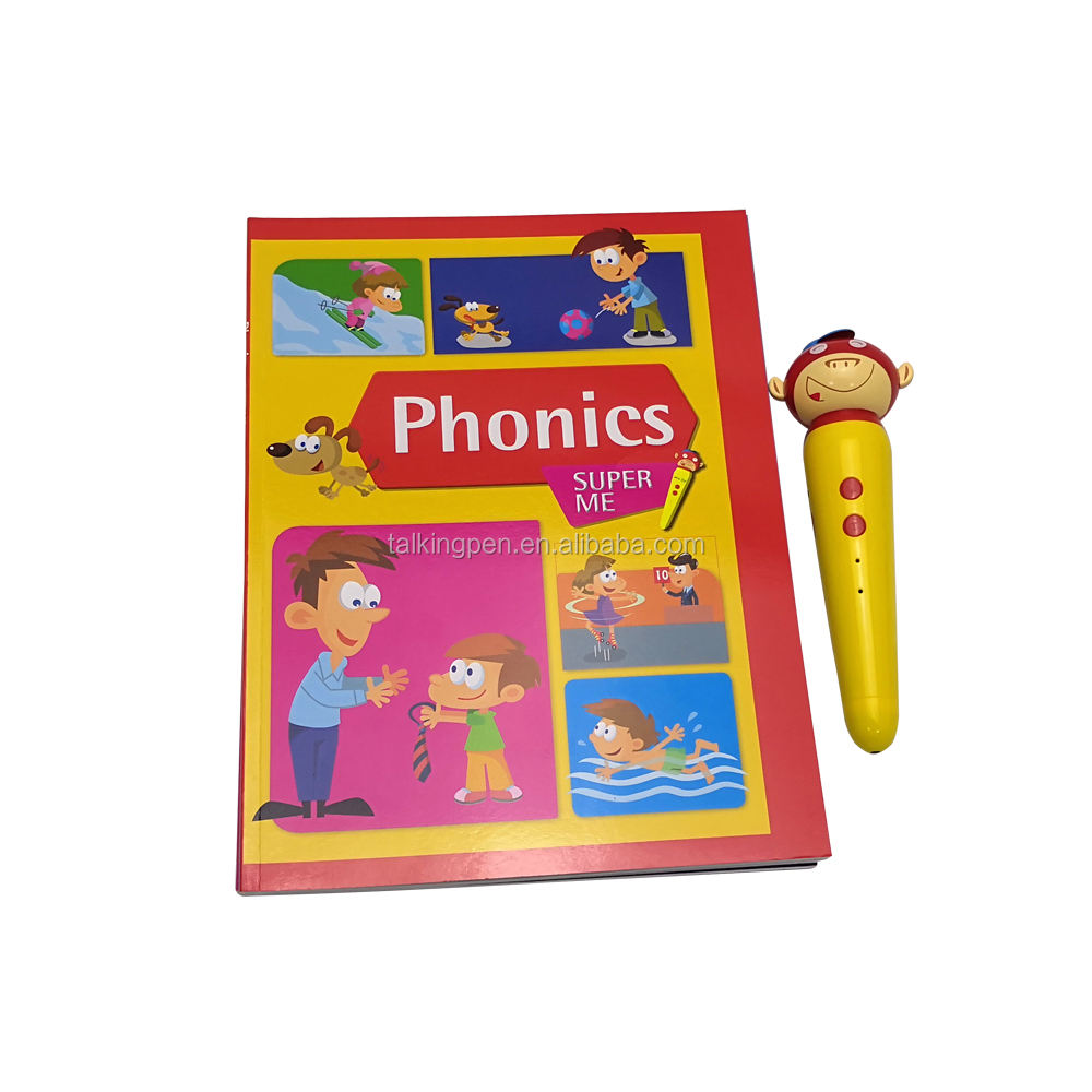 Super Me Phonics Children's Development Learning Machine Talking English Recording Talking Pen Book