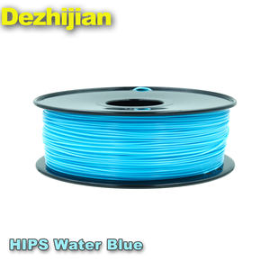 1.75mm 3mm 3d printer filamenten water blauw hips filament print 3d verwarming filament