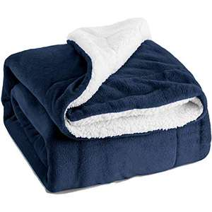 Coral Fleece and Sherpa 80 X 90 FULL MICRO FLEECE BLANKET
